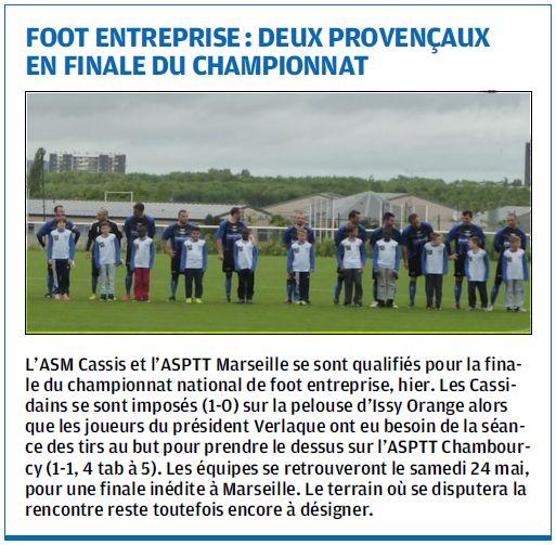 La Provence du 12 mai 2014