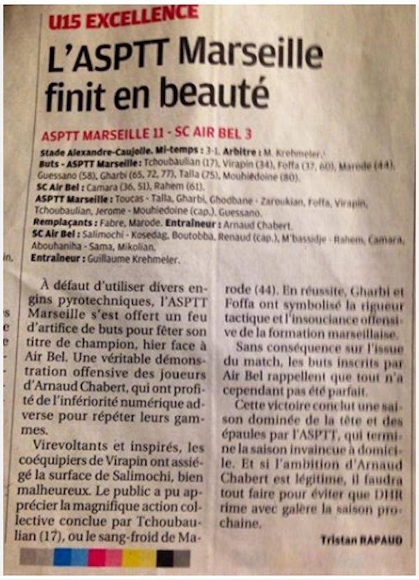 La Provence du 19 mai 2014