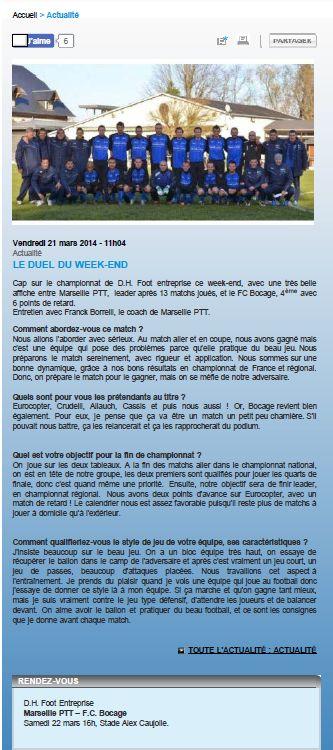Ligue méditerranee du 21-03-14