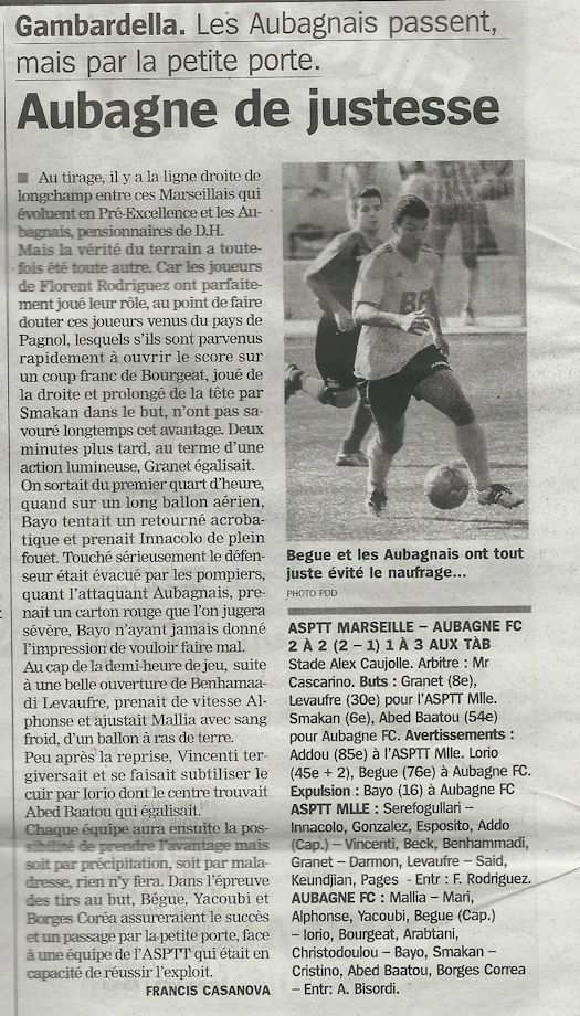 article la marseillaise du 03-11-2014